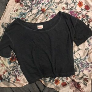 Mossimo Supply Co gray crop top